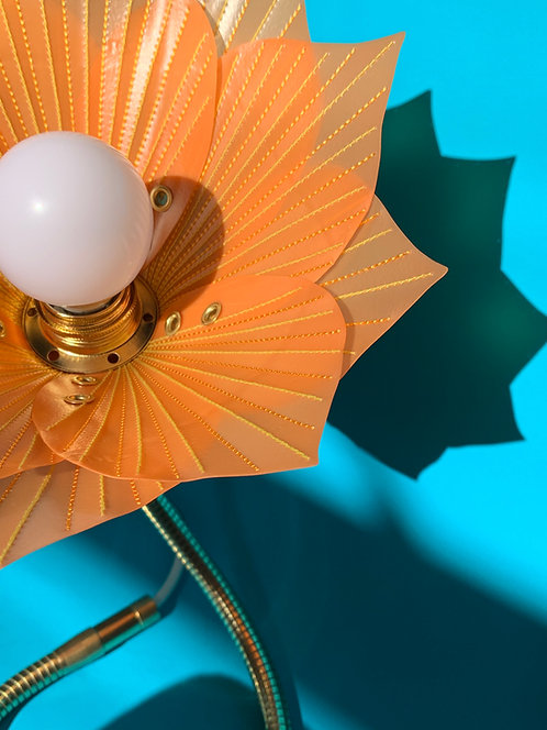 Orange,  Lime & Gold Stitch Lamp