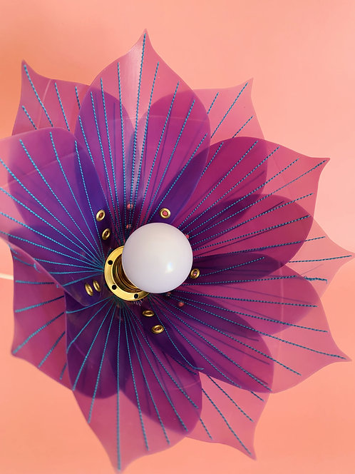 Purple & Blue Stitch Lamp