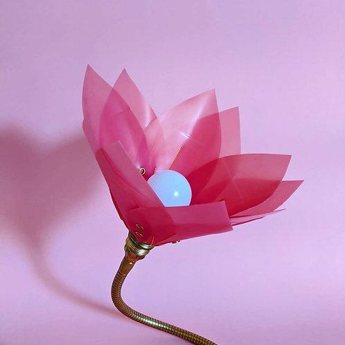 Magenta & Tangerine Stitch Lamp