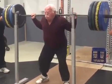 YOU ARE NEVER TOO OLD TO WEIGHT TRAIN