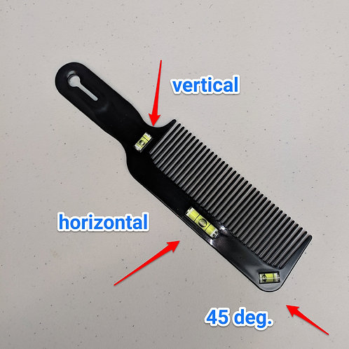 3-angle Bubble Level Clipper Comb
