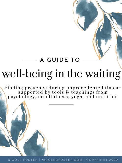 Well-Being in the Waiting eBook