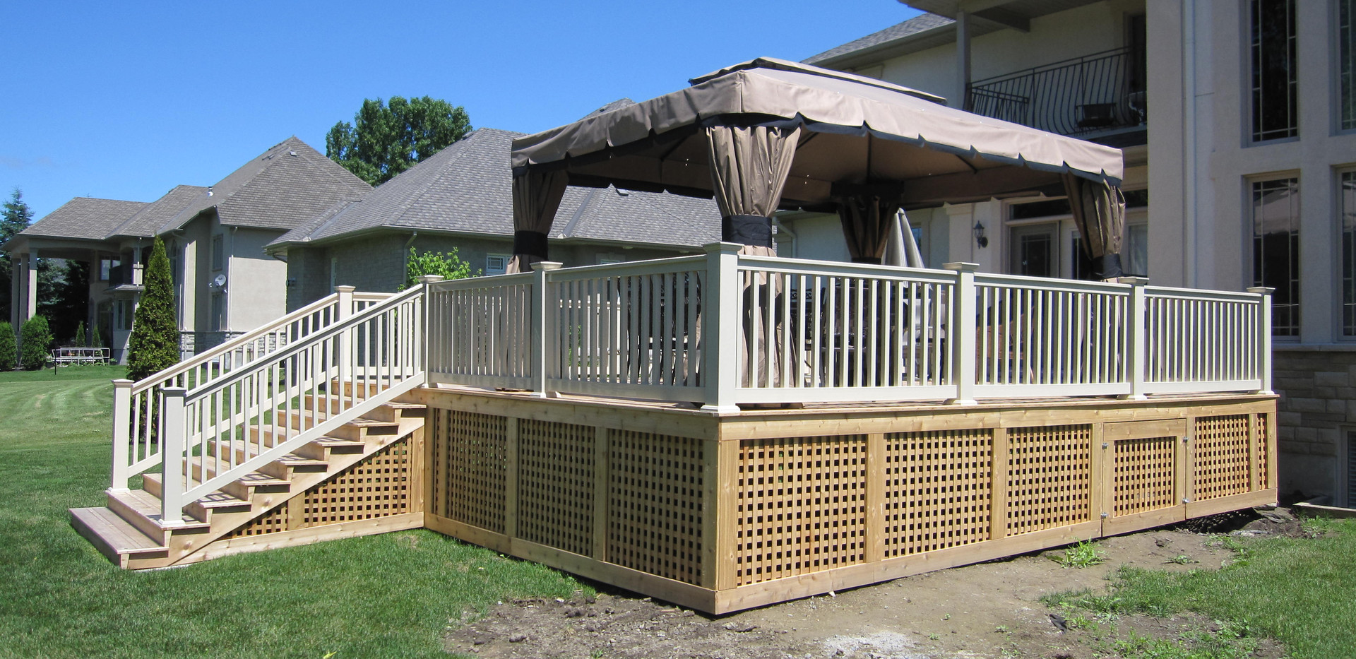 Completion before staining