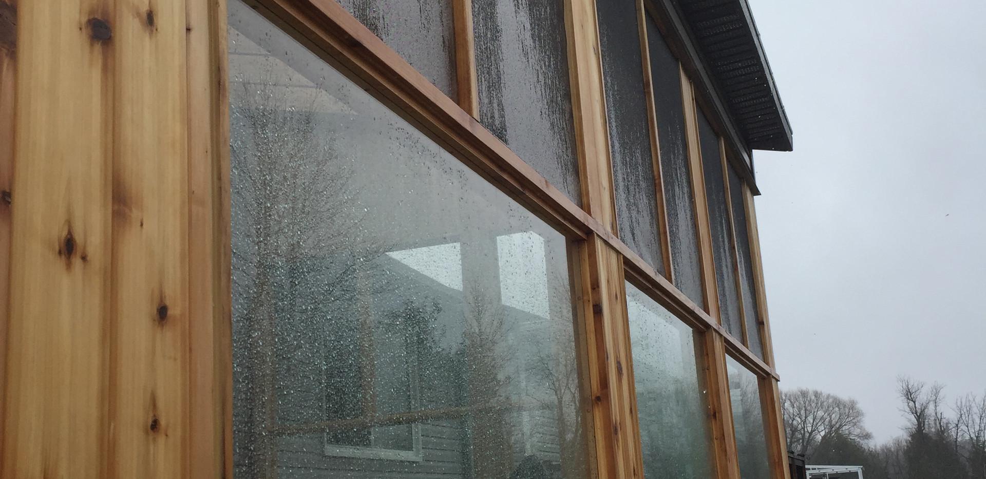 Kemptville glass railing