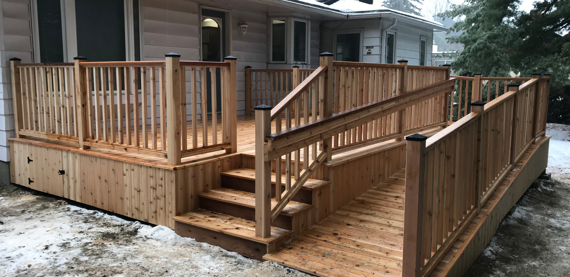 Deck with access ramp