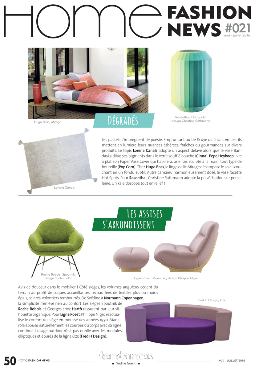 Ôze Fred H Design Home Fashion News