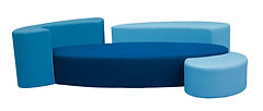 Canapé Ôze Tissus bleu  Divina 3 Kvadrat design original Fred Hernandez