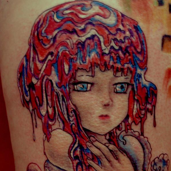 Lollipop girl tattoo