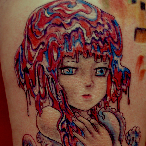 Lollipop girl tattoo