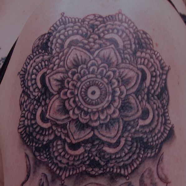 Mandala dreamcatcher tattoo