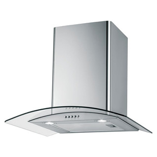 Curved glass extractor hood