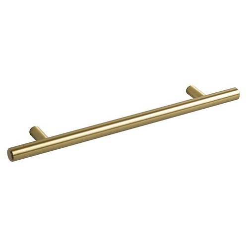 T Bar Handles 230mm Brushed Brass