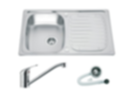 Drayton Single Bowl Sink and Chrome Tap