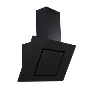 Angled glass extractor hood