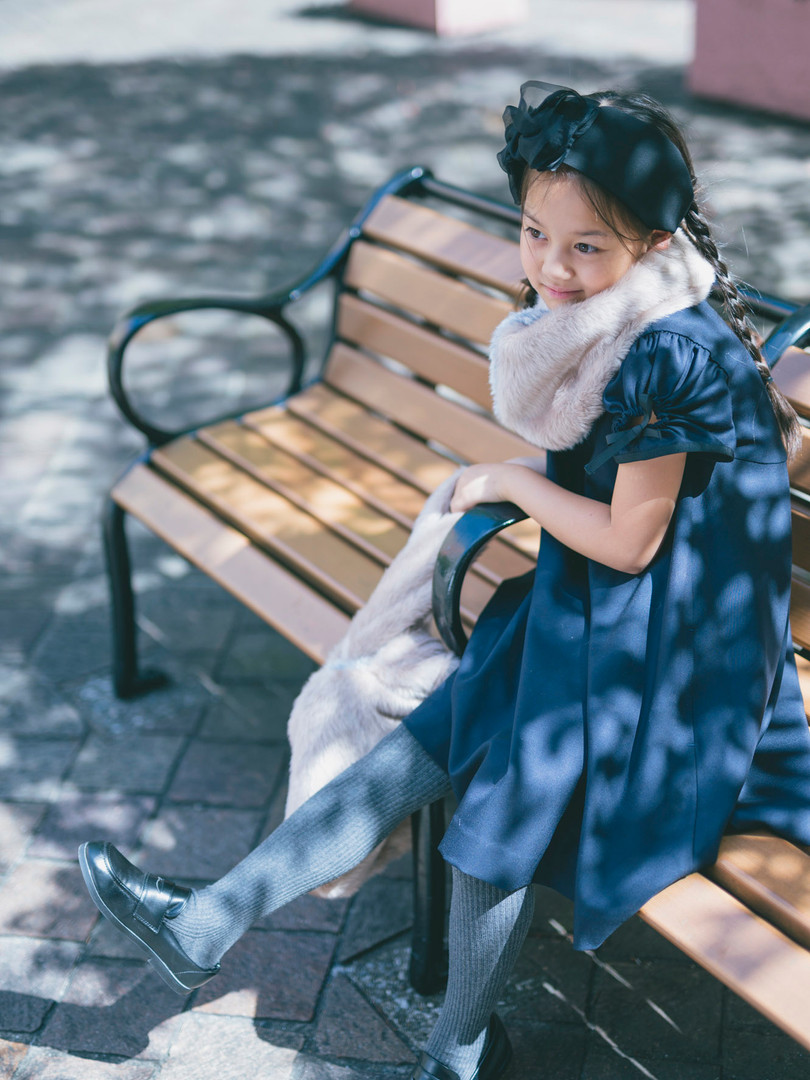 Gather sleeve dress