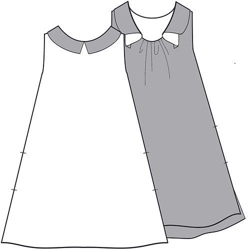 Back gather dress 2
