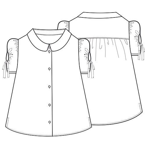 Gather sleeve shirt