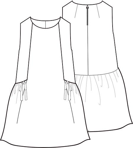 Gather Pocket dress
