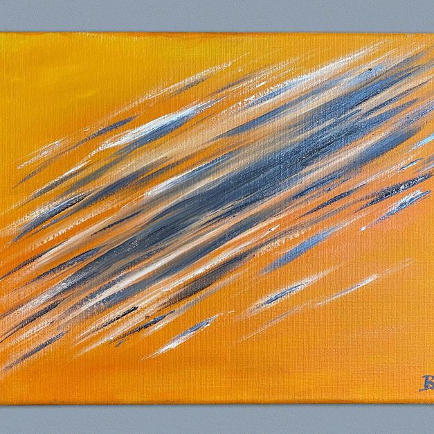 Orange motion blur