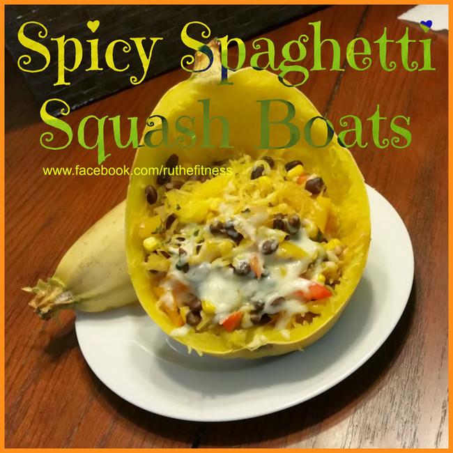 Spicy Spaghetti Squash Boat