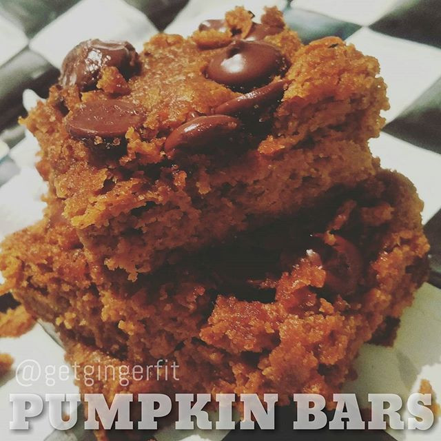 Guilt Free Pumpkin Bars