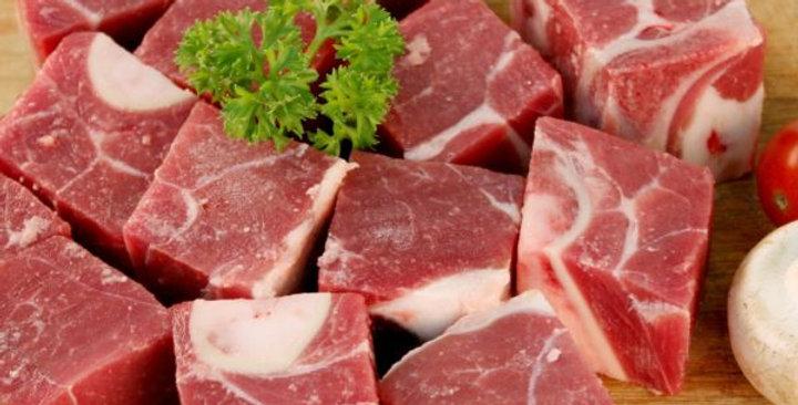 BE001. Fresh Frozen Beef Cubes Bone-in 美國冰鮮牛肉丁