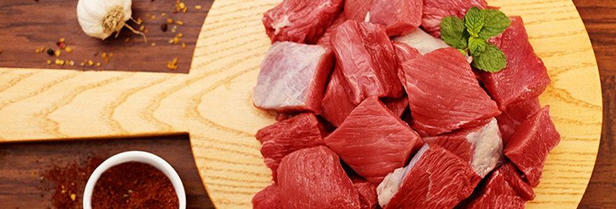 BE015. Fresh Chilled Beef Cubes Boneless 美國冰鮮無骨牛肉丁