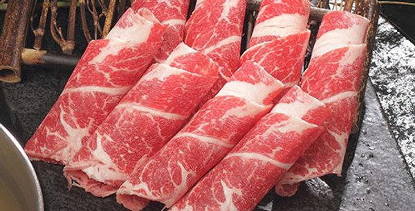 ABE002. Fresh Frozen Certified Angus Slices 美國急凍認證安格斯牛肉片 (薄切 可BBQ/ 火鍋)