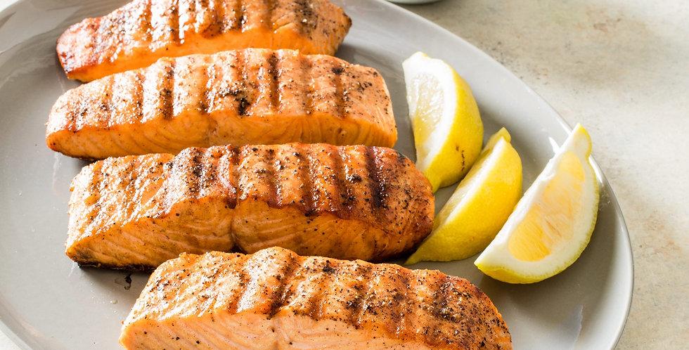 FS018. Smoked Salmon Steak (Deboned) 挪威煙三文魚(去骨有皮)150克