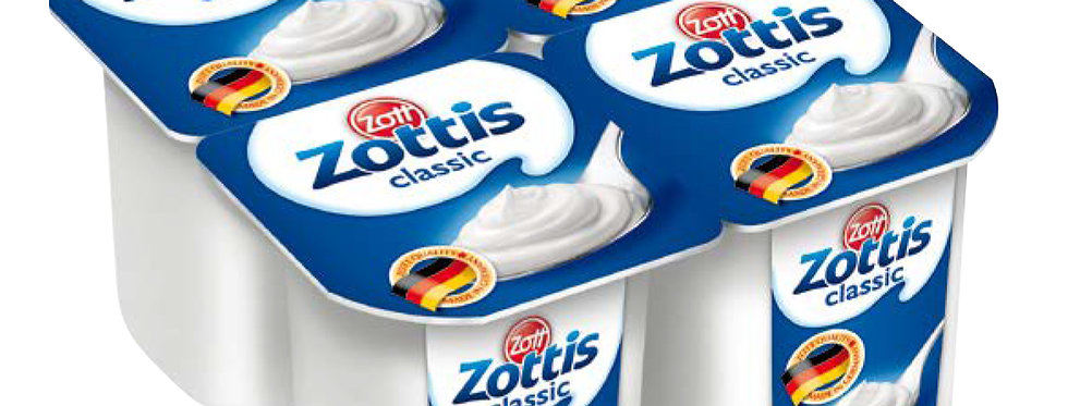DA014. Zottis Classic Natural Yoghurt 4 x 115g