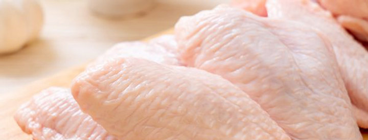 CH021. Fresh Frozen Premium IQF Chicken Mid Wing (50g+/wing) 菠蘭頂級特大雞中翼50克+/隻
