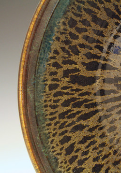 Detail of Black Oil Spot Bowl