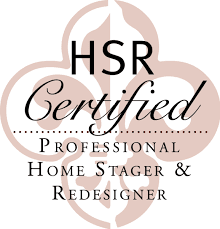 Home Stager and Redesigner Certification badge | HSR Certified Patricia Justice Designs