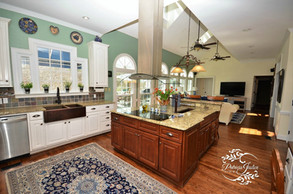 Dozier house Mayfield dr liDozier kitchen living room open concept interior design re-design winston-salem nc