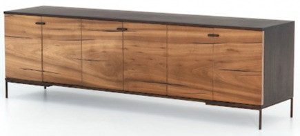 Black brown storage console for home design
