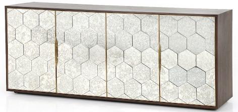 Honeycomb storage console decor for home design