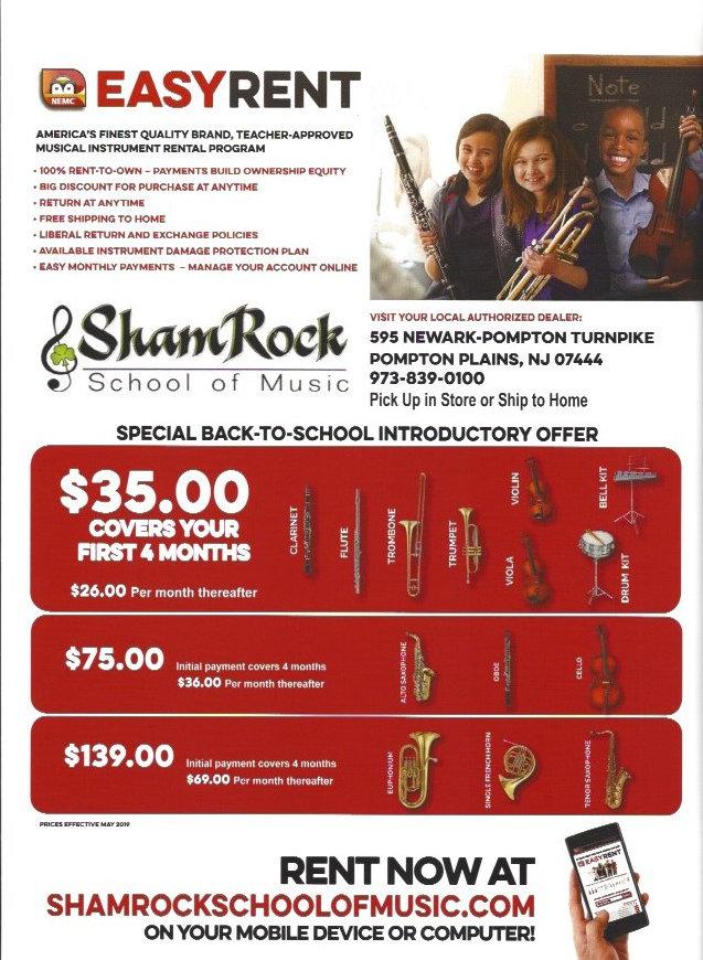 School Band Rentals   Music Lessons   ShamRock School of