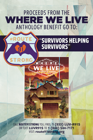 OVER $100K INWHERE WE LIVEANTHOLOGY PROCEEDS GIVEN TO ROUTE 91 STRONG NON-PROFIT TO BENEFIT SURVIV