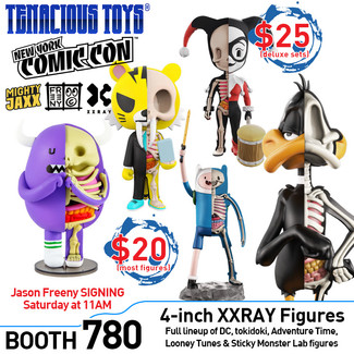 XXRAY, WeGo & Classicbot figures at Tenacious Toys NYCC Booth 780