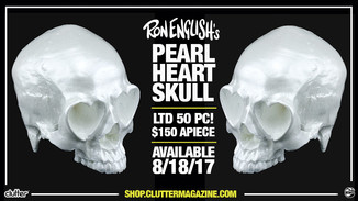 Ron English's Heart Skull - Pearl Edition!