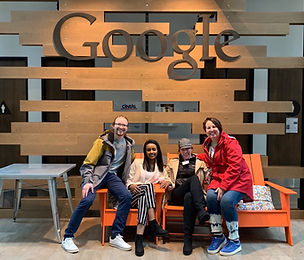Students on tour at Google