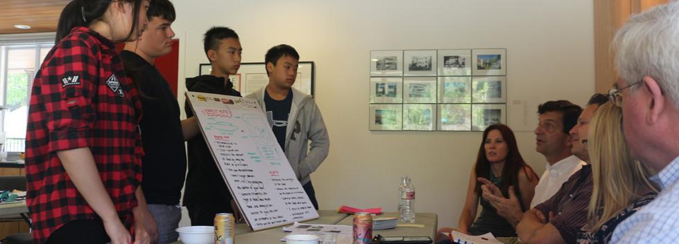 Presenting for feedback