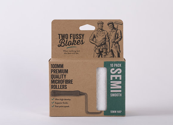 """Two Fussy Blokes Mini Roller Sleeves 4""""-10mm Nap (Semi-Smooth)"""