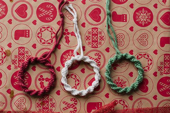 Mini kerstkrans - kleur