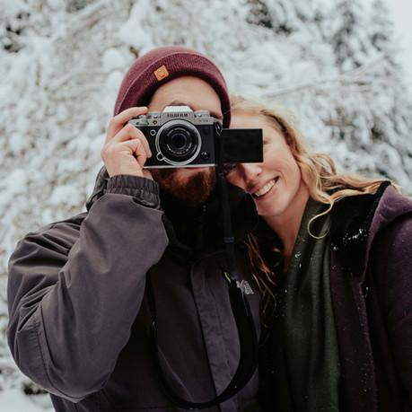 Love shoot in de sneeuw.