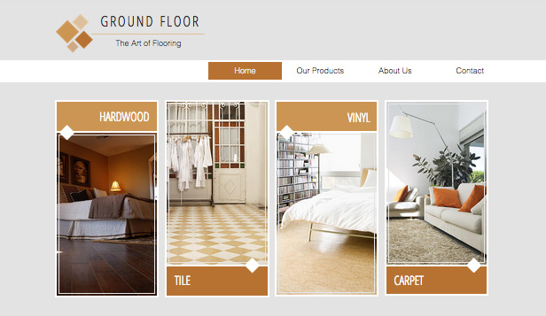 Services & Maintenance website templates – Flooring Company