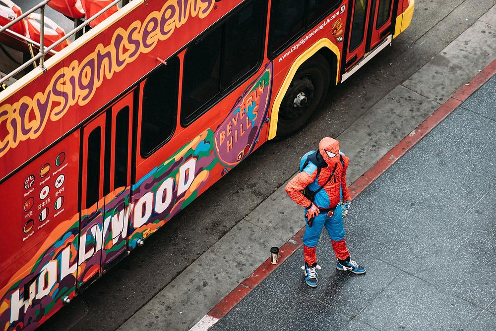 Roleplaying as spiderman superhero