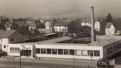 Ein Blick auf den früheren Komplex der Kömpel Textilpflege