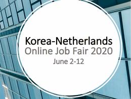 Korea - Netherlands Online Job Fair 2020