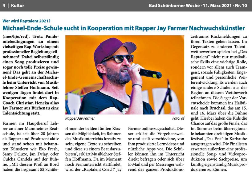 Nussbaum-Medien, Bad Schönborner Woche